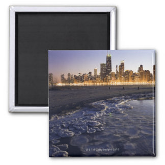 USA, Illinois, Chicago, City skyline from Lake Magnet