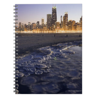 USA, Illinois, Chicago, City skyline from Lake Spiral Notebook