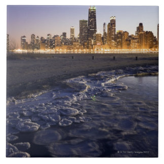 USA, Illinois, Chicago, City skyline from Lake Tile