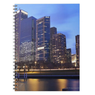USA, Illinois, Chicago, City skyline of Randolph Note Books