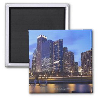 USA, Illinois, Chicago, City skyline of Randolph Square Magnet