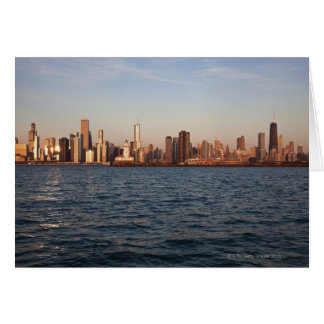 USA, Illinois, Chicago, City skyline over Lake 10 Card
