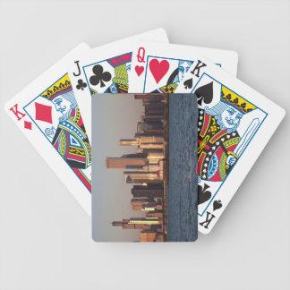USA, Illinois, Chicago, City skyline over Lake 2 Bicycle Playing Cards