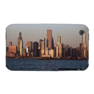 USA, Illinois, Chicago, City skyline over Lake 2 iPhone 3 Case