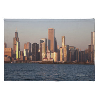 USA, Illinois, Chicago, City skyline over Lake 2 Place Mat