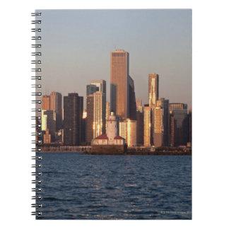 USA, Illinois, Chicago, City skyline over Lake 2 Spiral Notebooks