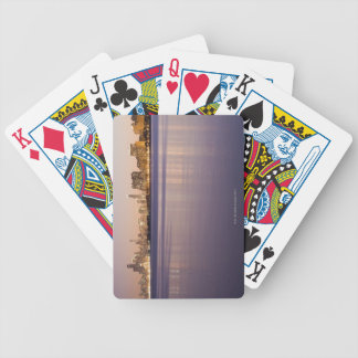 USA, Illinois, Chicago, City skyline over Lake 3 Bicycle Playing Cards