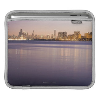 USA, Illinois, Chicago, City skyline over Lake 3 iPad Sleeve