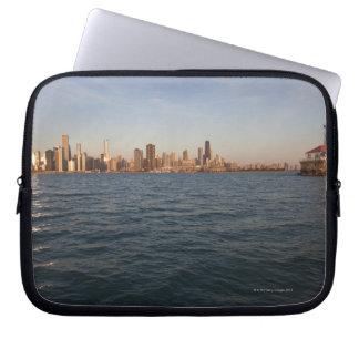 USA, Illinois, Chicago, City skyline over Lake 3 Laptop Computer Sleeve
