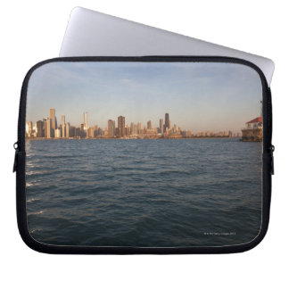 USA, Illinois, Chicago, City skyline over Lake 3 Laptop Sleeve