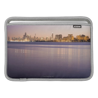 USA, Illinois, Chicago, City skyline over Lake 3 MacBook Sleeve