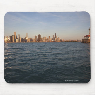 USA, Illinois, Chicago, City skyline over Lake 3 Mouse Mat