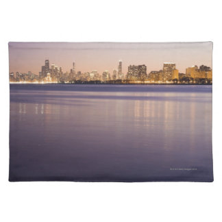USA, Illinois, Chicago, City skyline over Lake 3 Placemat