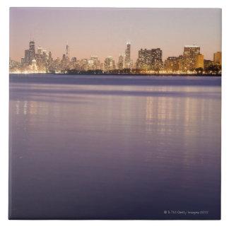 USA, Illinois, Chicago, City skyline over Lake 3 Tile