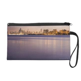 USA, Illinois, Chicago, City skyline over Lake 3 Wristlet Purse