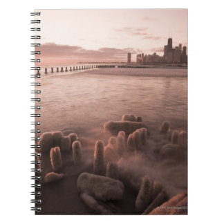 USA, Illinois, Chicago, City skyline over Lake 4 Notebook