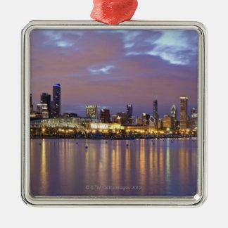 USA, Illinois, Chicago, City skyline over Lake 5 Christmas Ornament
