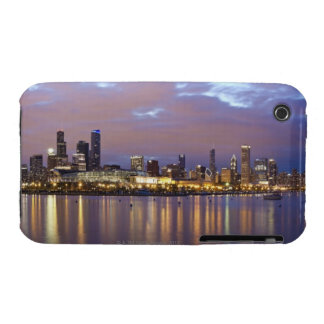 USA, Illinois, Chicago, City skyline over Lake 5 iPhone 3 Covers