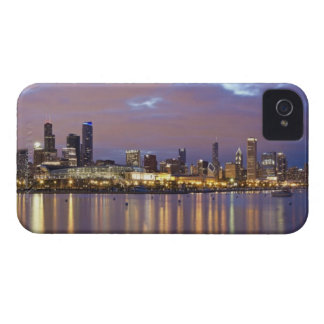 USA, Illinois, Chicago, City skyline over Lake 5 iPhone 4 Covers