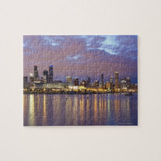USA, Illinois, Chicago, City skyline over Lake 5 Jigsaw Puzzle