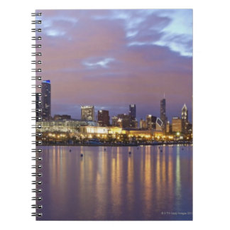 USA, Illinois, Chicago, City skyline over Lake 5 Notebooks