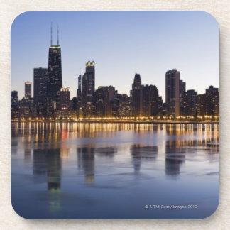 USA, Illinois, Chicago, City skyline over Lake 6 Coaster