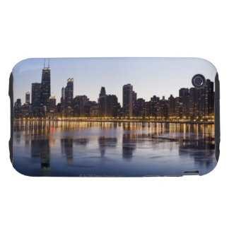 USA, Illinois, Chicago, City skyline over Lake 6 iPhone 3 Tough Cases