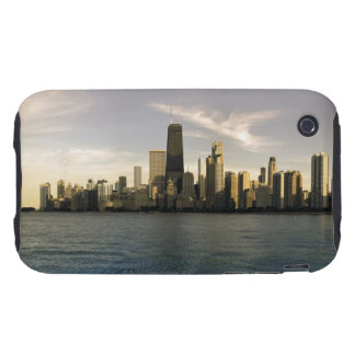 USA, Illinois, Chicago, City skyline over Lake 7 iPhone 3 Tough Covers