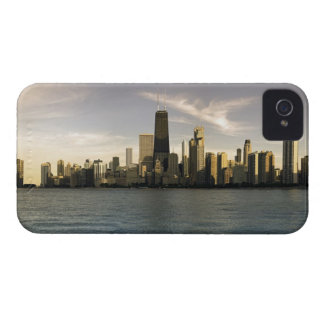 USA, Illinois, Chicago, City skyline over Lake 7 iPhone 4 Cases