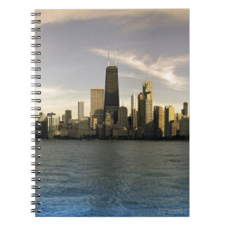 USA, Illinois, Chicago, City skyline over Lake 7 Spiral Notebooks