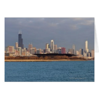 USA, Illinois, Chicago, City skyline over Lake 9 Card