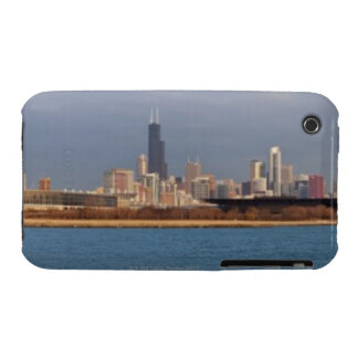 USA, Illinois, Chicago, City skyline over Lake 9 Case-Mate iPhone 3 Cases