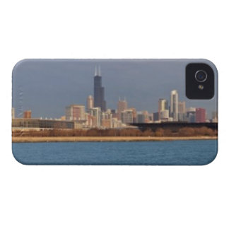 USA, Illinois, Chicago, City skyline over Lake 9 iPhone 4 Case-Mate Case