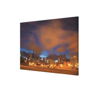 USA, Illinois, Chicago, City skyline over Lake Canvas Print