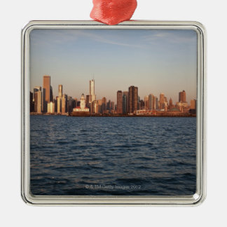USA, Illinois, Chicago, City skyline over Lake Christmas Ornament