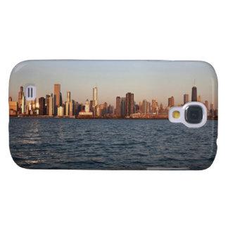 USA, Illinois, Chicago, City skyline over Lake Galaxy S4 Case