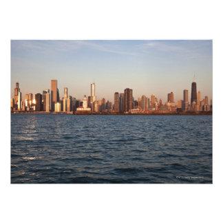 USA Illinois Chicago City skyline over Lake Custom Announcements
