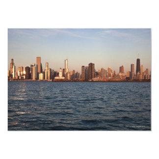 "USA, Illinois, Chicago, City skyline over Lake 5"" X 7"" Invitation Card"