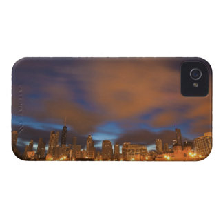 USA, Illinois, Chicago, City skyline over Lake iPhone 4 Case-Mate Cases