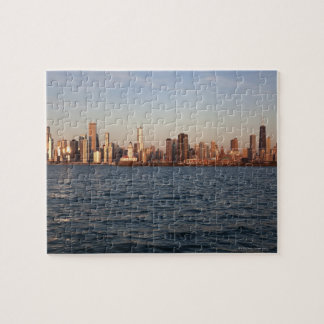USA, Illinois, Chicago, City skyline over Lake Jigsaw Puzzle