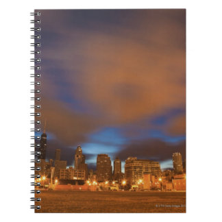 USA, Illinois, Chicago, City skyline over Lake Notebook