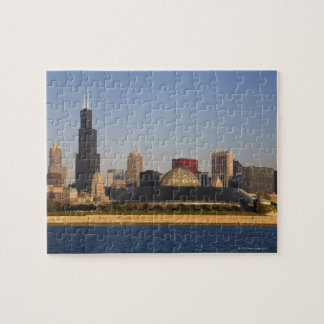 USA, Illinois, Chicago, City skyline with Adler Jigsaw Puzzle