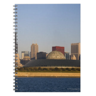 USA, Illinois, Chicago, City skyline with Adler Notebooks