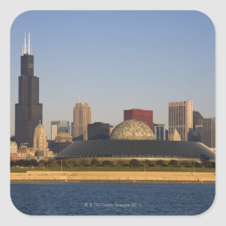 USA, Illinois, Chicago, City skyline with Adler Square Sticker