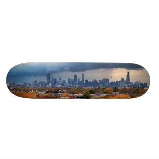 USA, Illinois, Chicago, cityscape 20.6 Cm Skateboard Deck