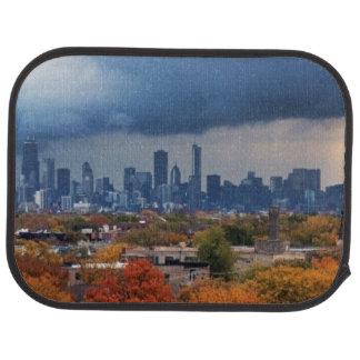 USA, Illinois, Chicago, cityscape Car Mat