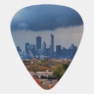 USA, Illinois, Chicago, cityscape Guitar Pick