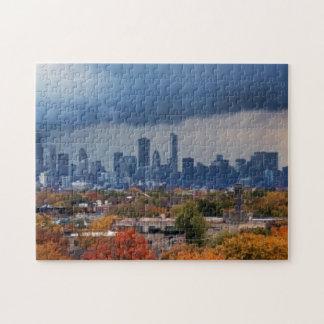USA, Illinois, Chicago, cityscape Jigsaw Puzzle