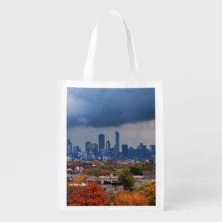 USA, Illinois, Chicago, cityscape Reusable Grocery Bag