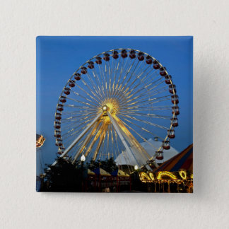 USA, Illinois, Chicago, Cityscapes, Lighted 15 Cm Square Badge
